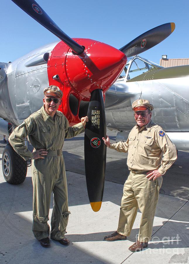 Lockheed P-38l Lightning Honey Bunny  - 04 Photograph