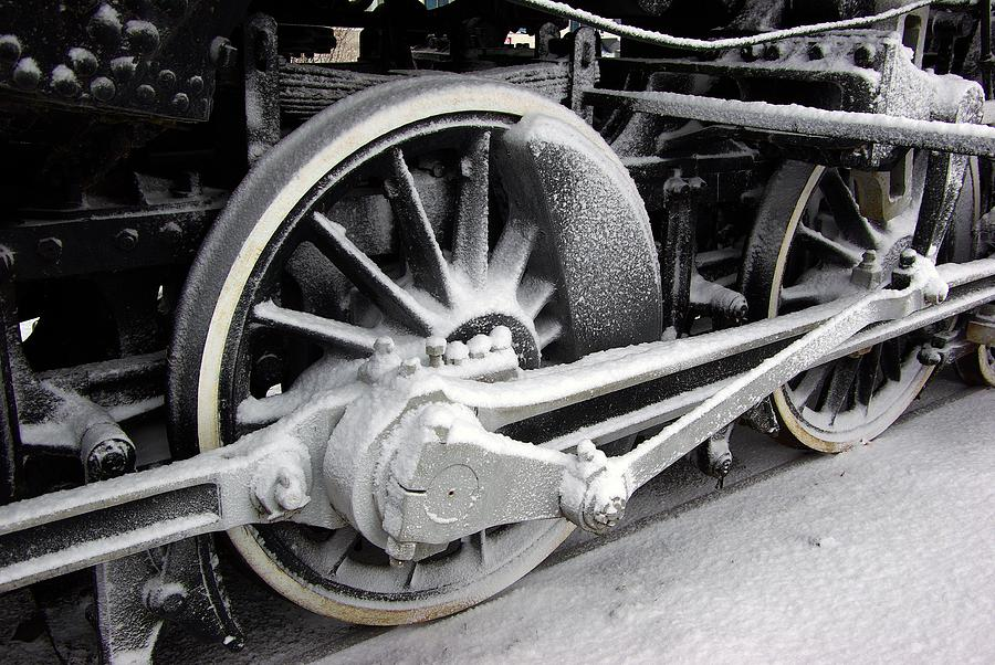 Locomotive 1095 Drive Wheels Photograph  - Locomotive 1095 Drive Wheels Fine Art Print