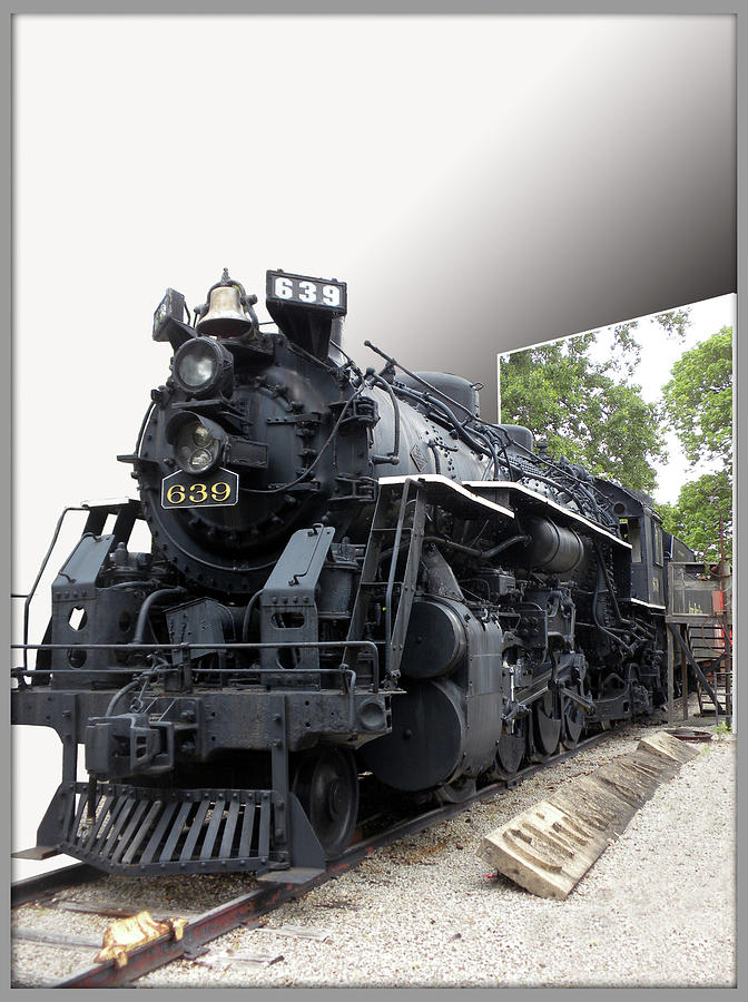 Trains Photograph - Locomotive 639 Type 2 8 2 Out Of Bounds by Thomas Woolworth