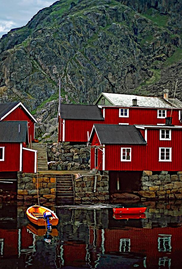 Lofoten Fishing Huts Photograph