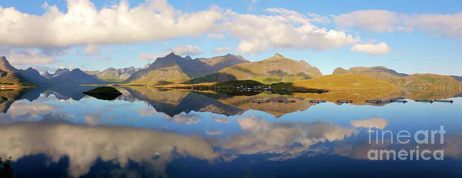 Lofoten Panorama Selfjorden Norway Photograph  - Lofoten Panorama Selfjorden Norway Fine Art Print