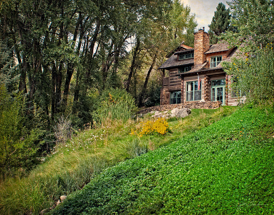 Log Cabin In Aspen Colorado Photograph By Julie Magers Soulen