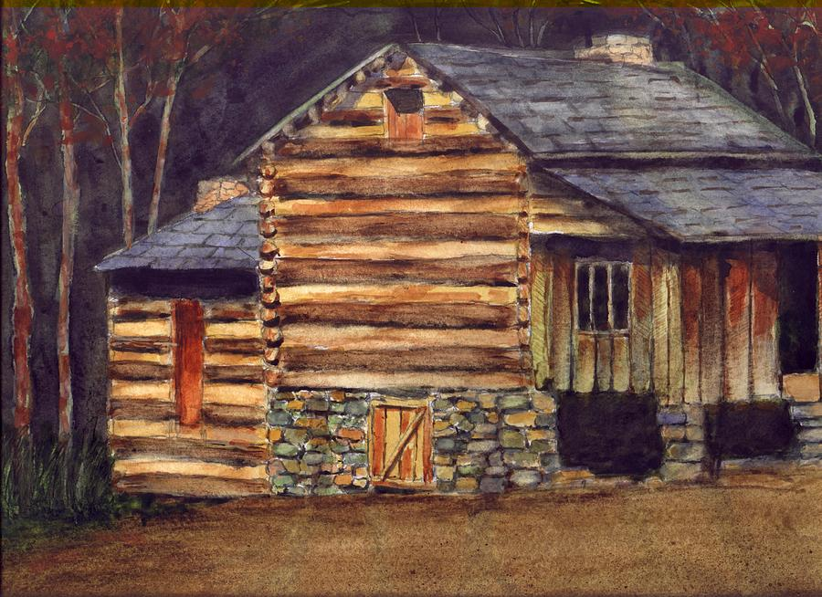 log cabin painting by john helms