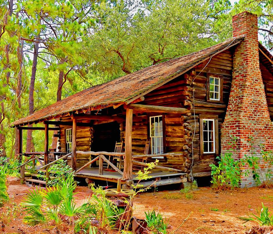 Log Cabin Photograph Log Cabin Fine Art Print