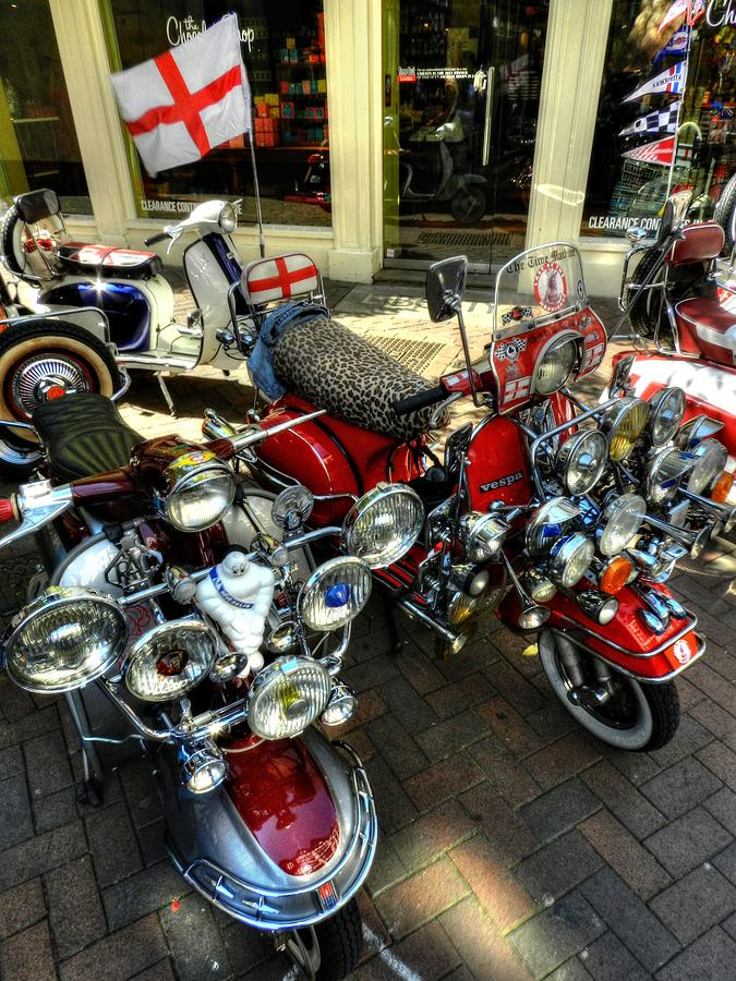 Vespa Photograph - London 088 by Lance Vaughn