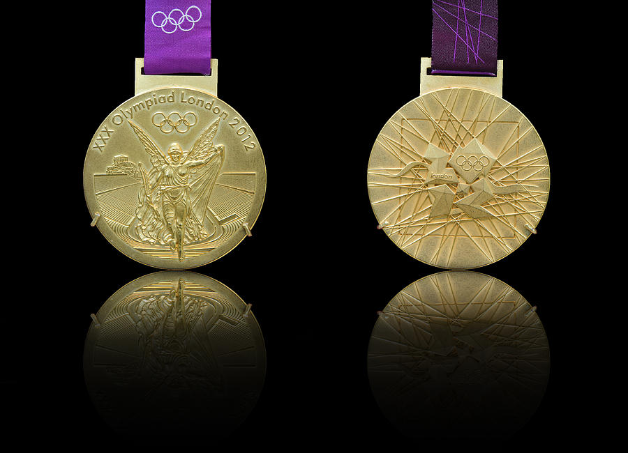 Olympic Photograph - London 2012 Olympics Gold Medal Design by Matthew Gibson