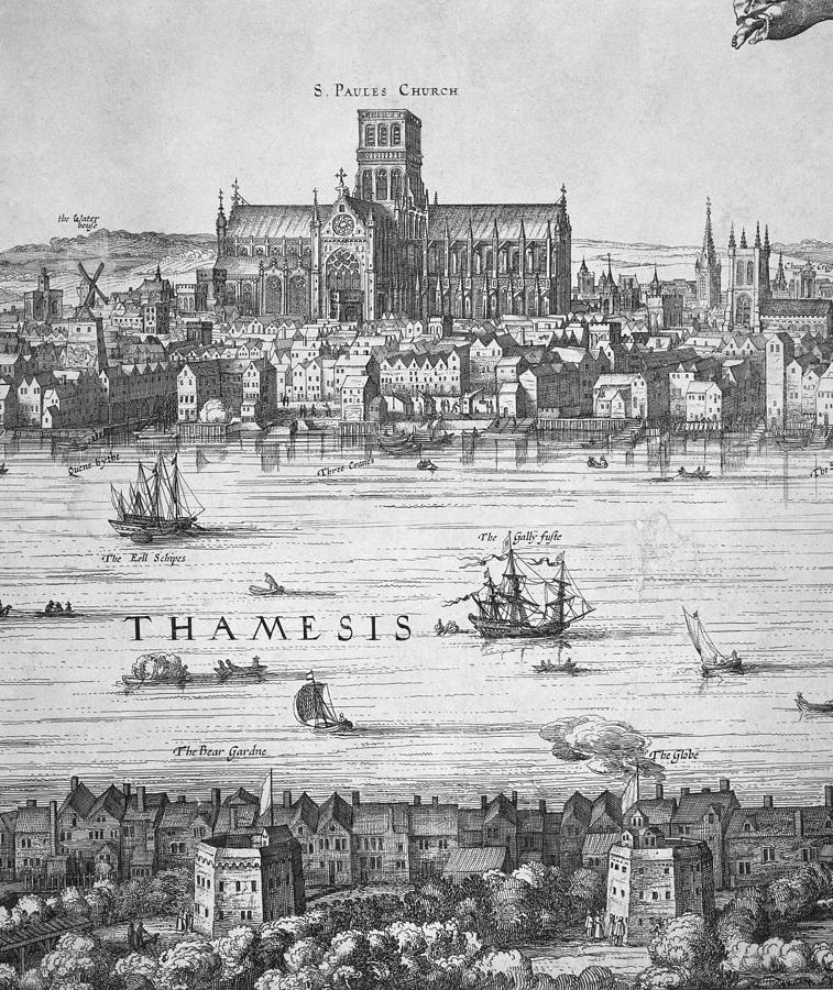 Black And White Photograph - London During Elizabeth Is Reign 17th by Everett
