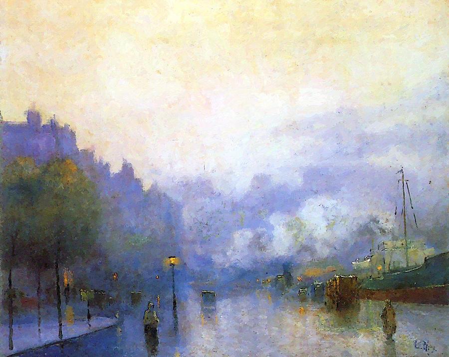 London Harbour 1926 Painting