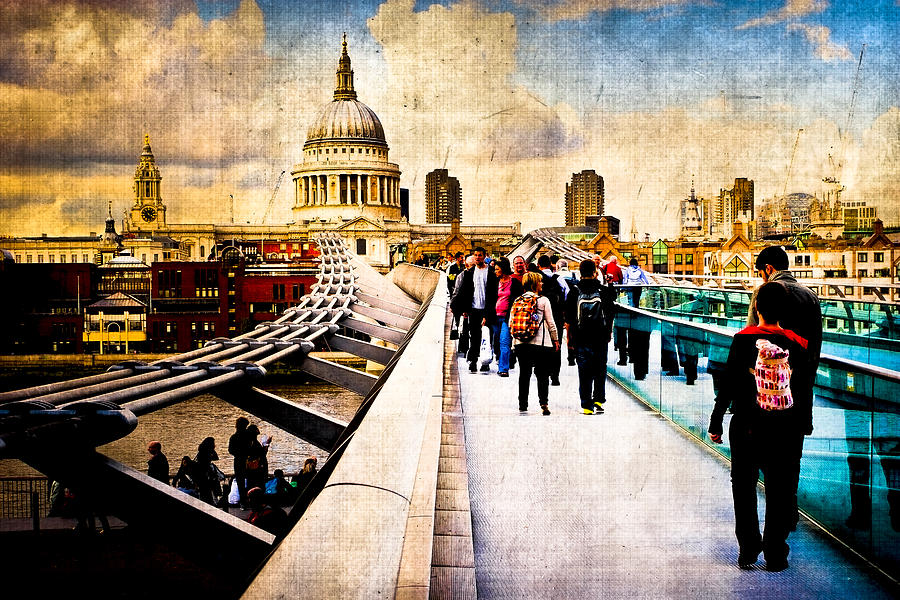 London Skyline Photograph - London Of My Dreams - St Pauls by Mark E Tisdale