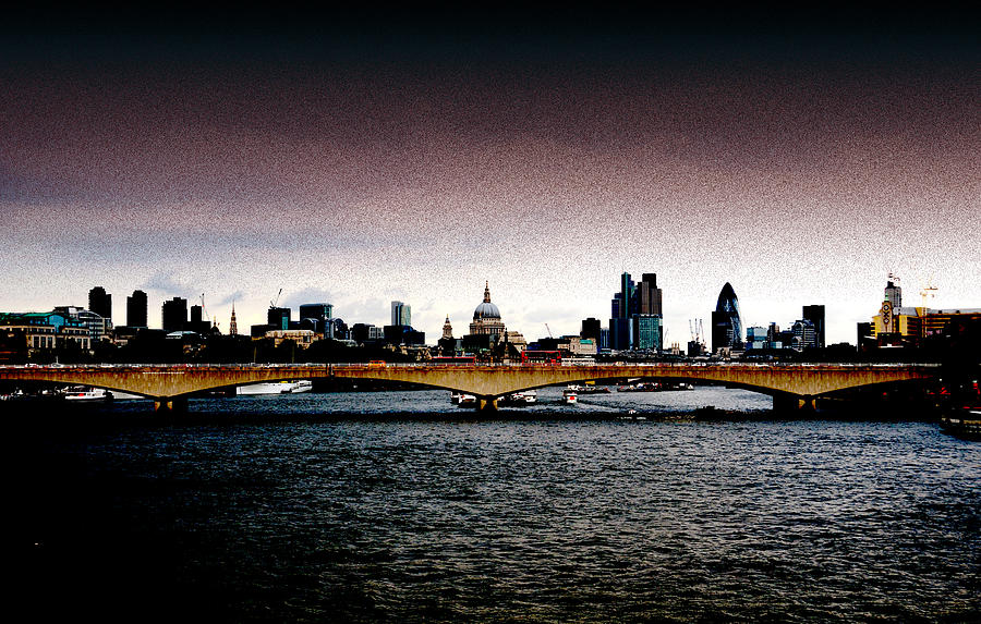 London Over The Waterloo Bridge Photograph  - London Over The Waterloo Bridge Fine Art Print