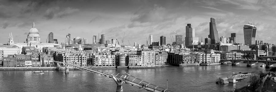 London Skyline St Paul's And The City Black And White ...  London Skyline Black And White