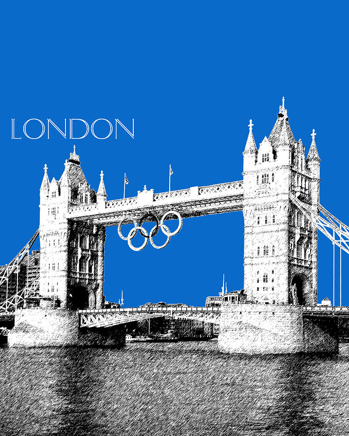 London Skyline Tower Bridge Digital Art  - London Skyline Tower Bridge Fine Art Print