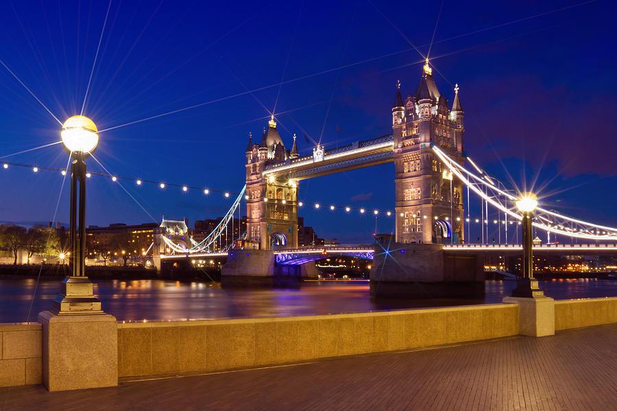 London Tower Bridge By Night Photograph