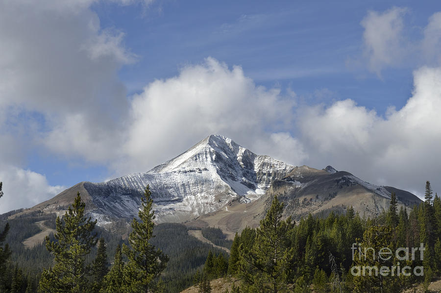 Lone Mountain Peak Photograph
