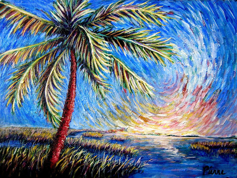 Lone Painting - Lone Palm by Sebastian Pierre