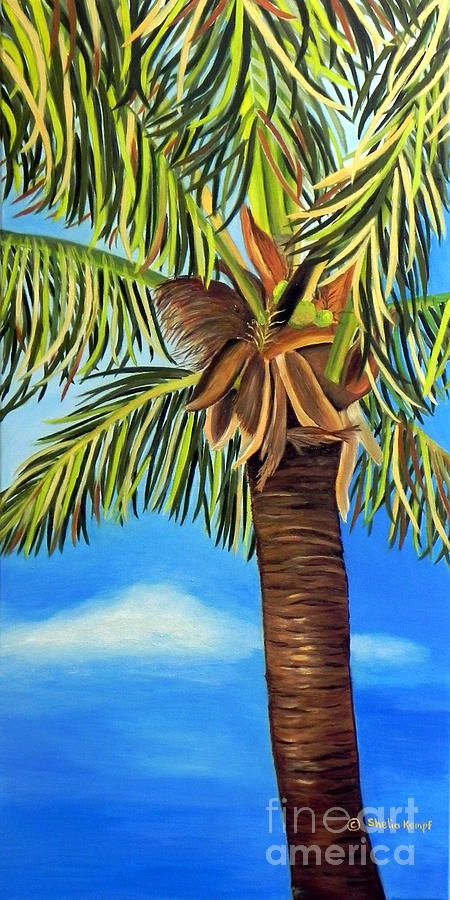Lone Palm Painting