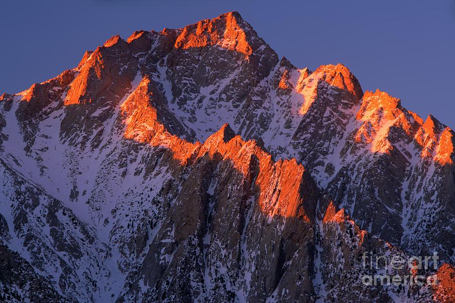 Alabama Hills Photograph - Lone Pine Peak by Inge Johnsson