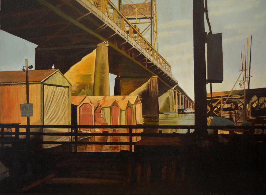 Bridge Painting - Lone Seagull by Thu Nguyen