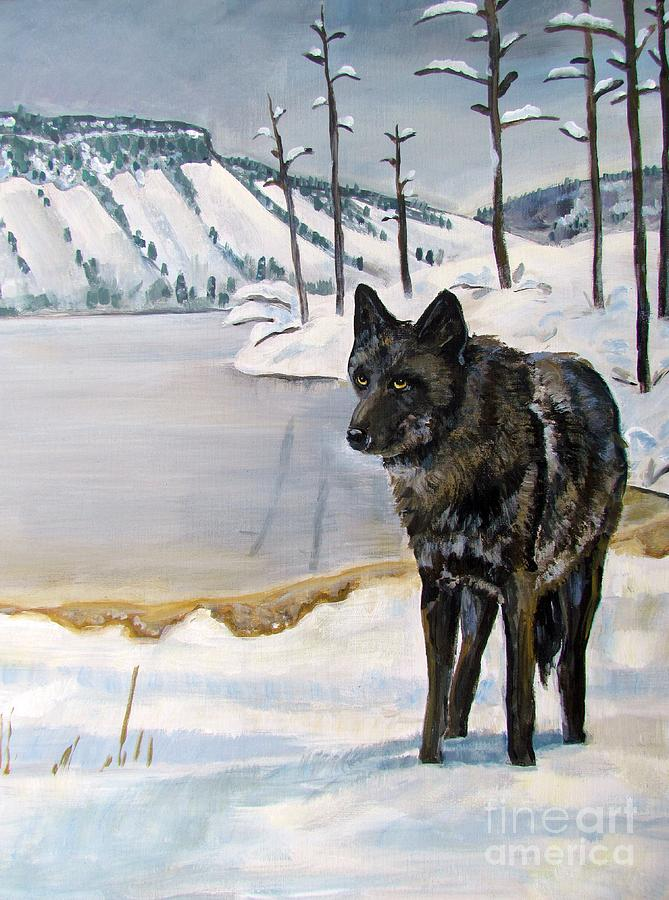 Wolf Painting - Lone Wolf by Harriet Peck Taylor