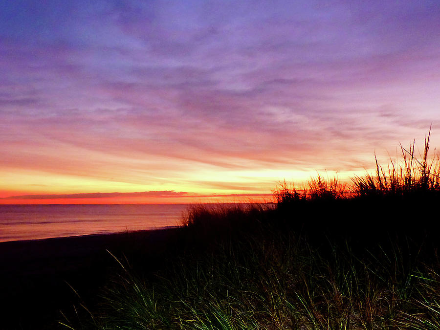 Sunrise Photograph - Lonely Beach At Sunrise Norfolk Va by Susan Savad