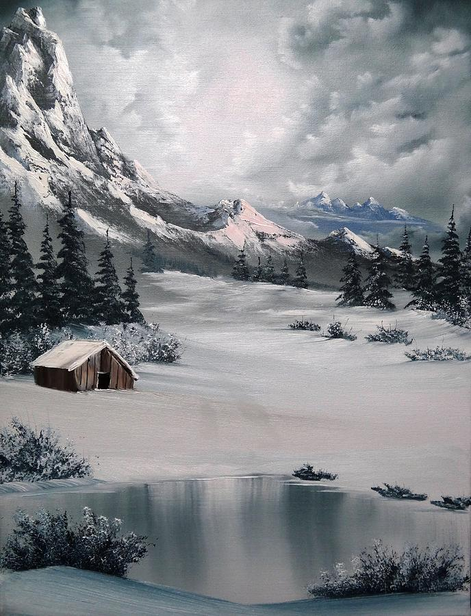 Lonely Cabin Painting  - Lonely Cabin Fine Art Print