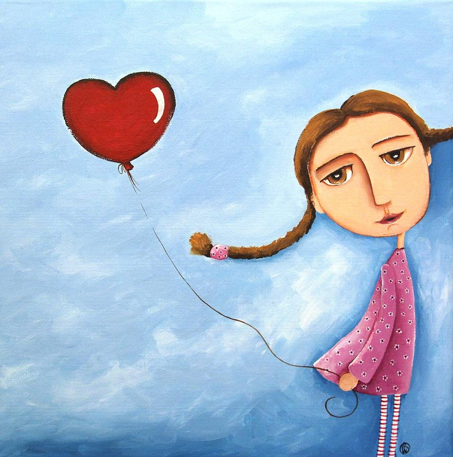 Lonely Girl Painting by Lucia Stewart