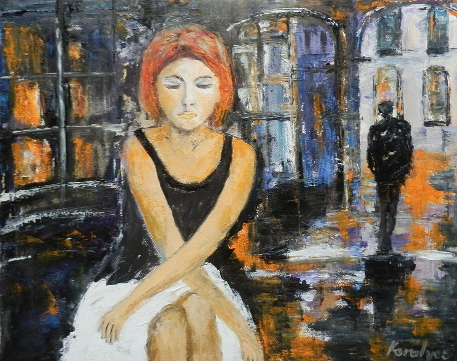 Lonely Woman Painting
