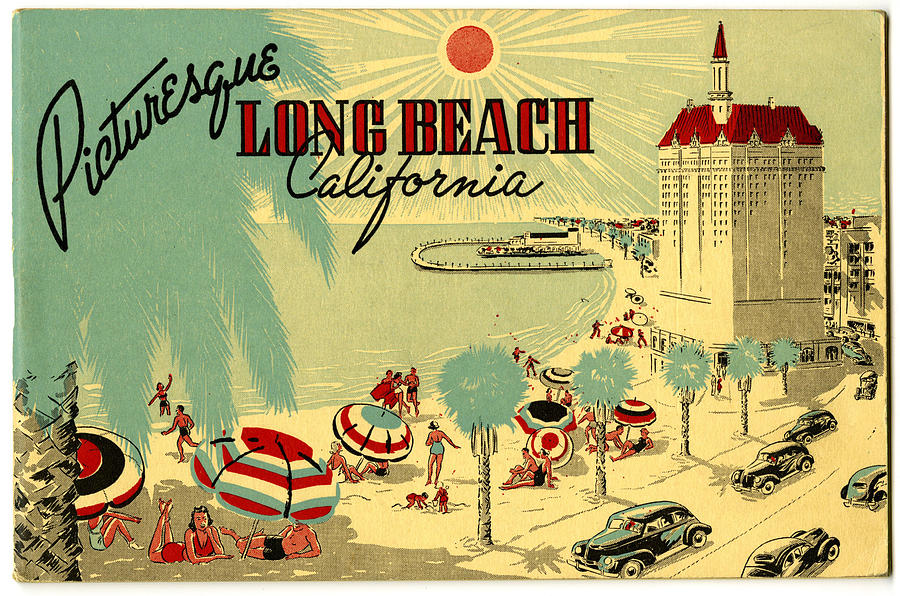 Long Beach 1946 Digital Art