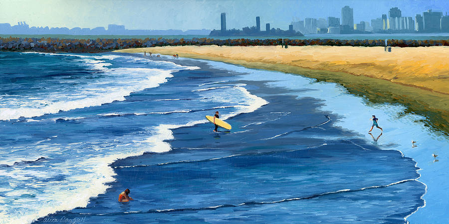 Long Beach California Painting  - Long Beach California Fine Art Print