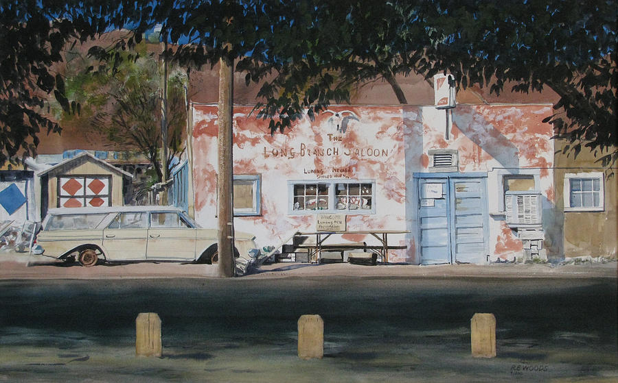 Long Branch Saloon Luning Nevada Painting  - Long Branch Saloon Luning Nevada Fine Art Print