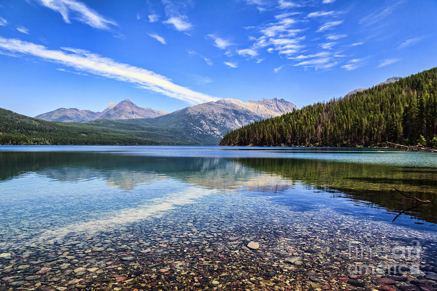 Long Knife Peak At Kintla Lake Photograph  - Long Knife Peak At Kintla Lake Fine Art Print