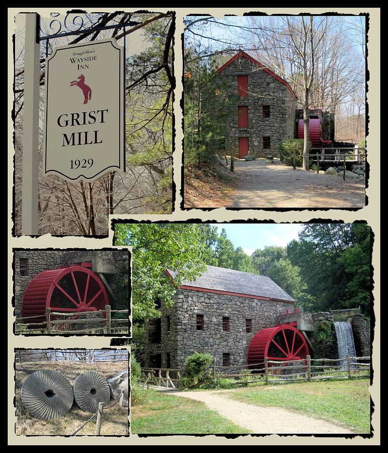 Longfellows Grist Mill Photograph  - Longfellows Grist Mill Fine Art Print