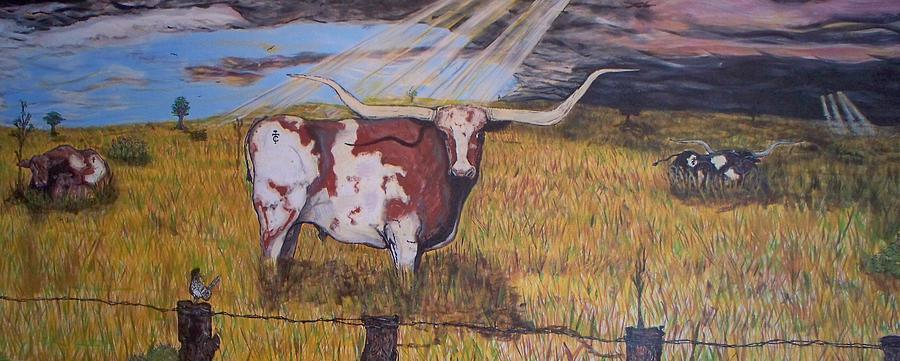 Longhorns Painting - Longhorn Storm by Jose Cabral