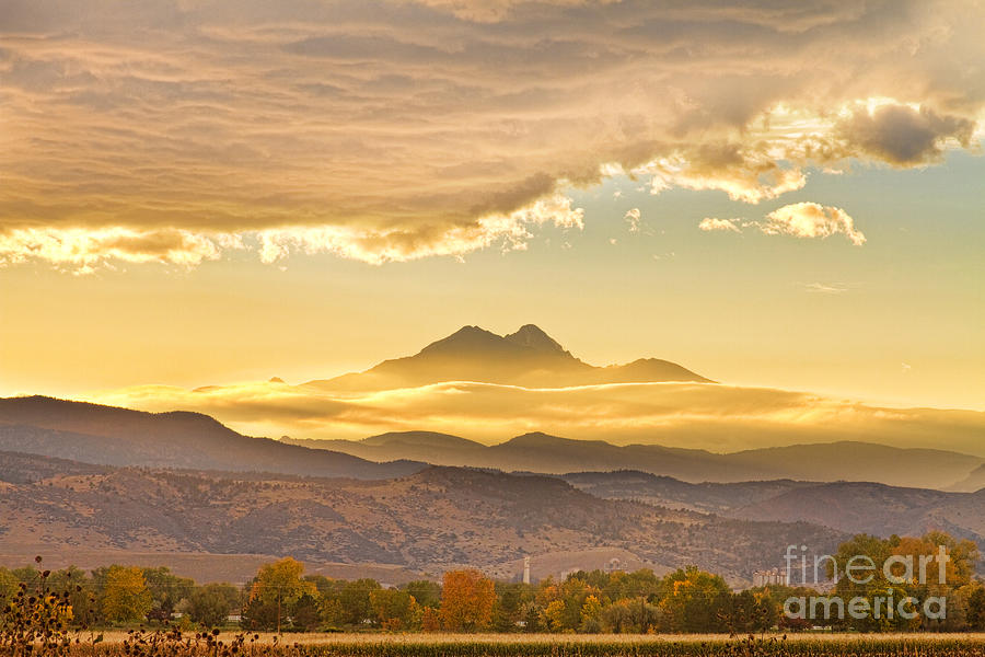 Longs Peak Autumn Sunset Photograph