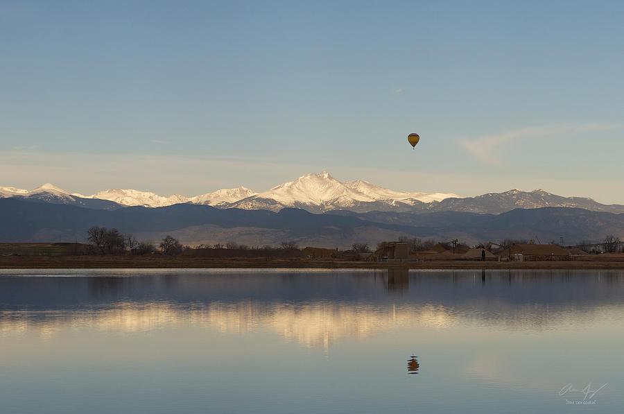 Longs Peak Hot Air Balloon Photograph