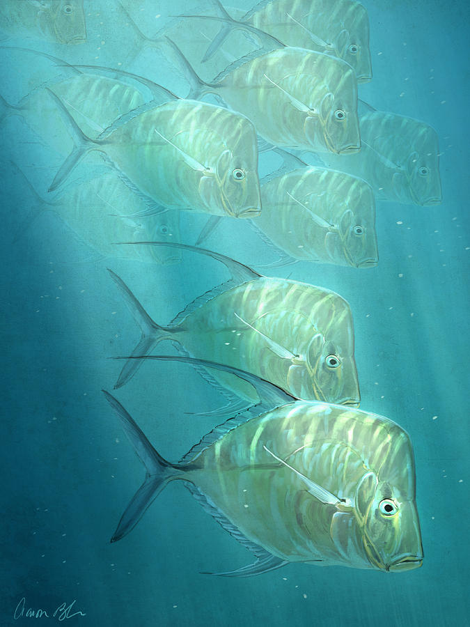 Fish Digital Art - Lookdowns by Aaron Blaise