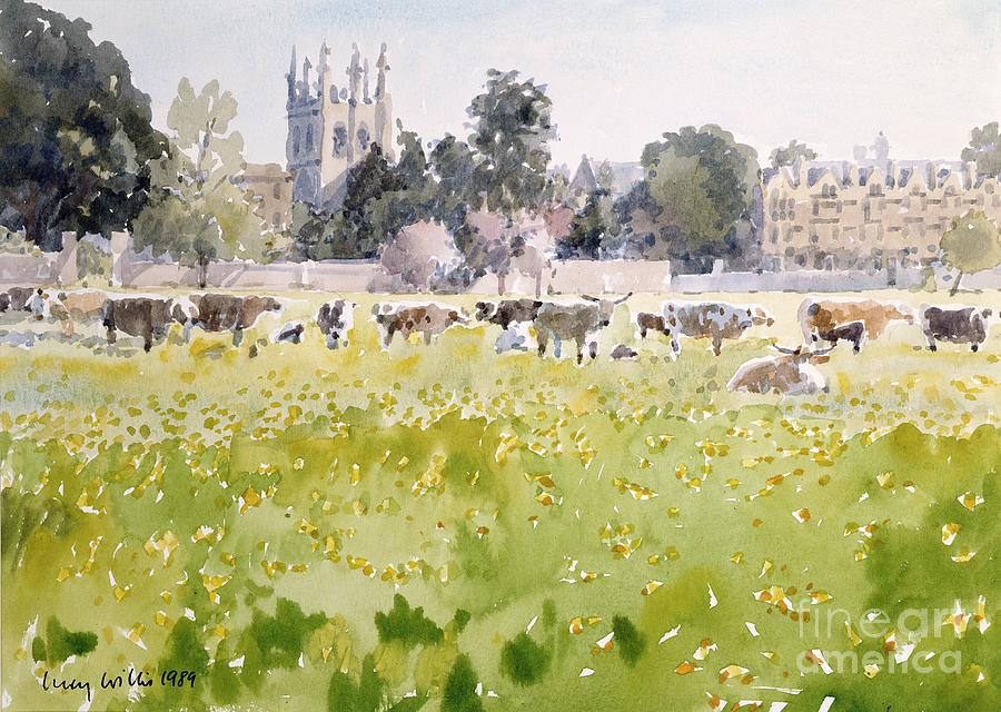 Looking Across Christ Church Meadows Painting