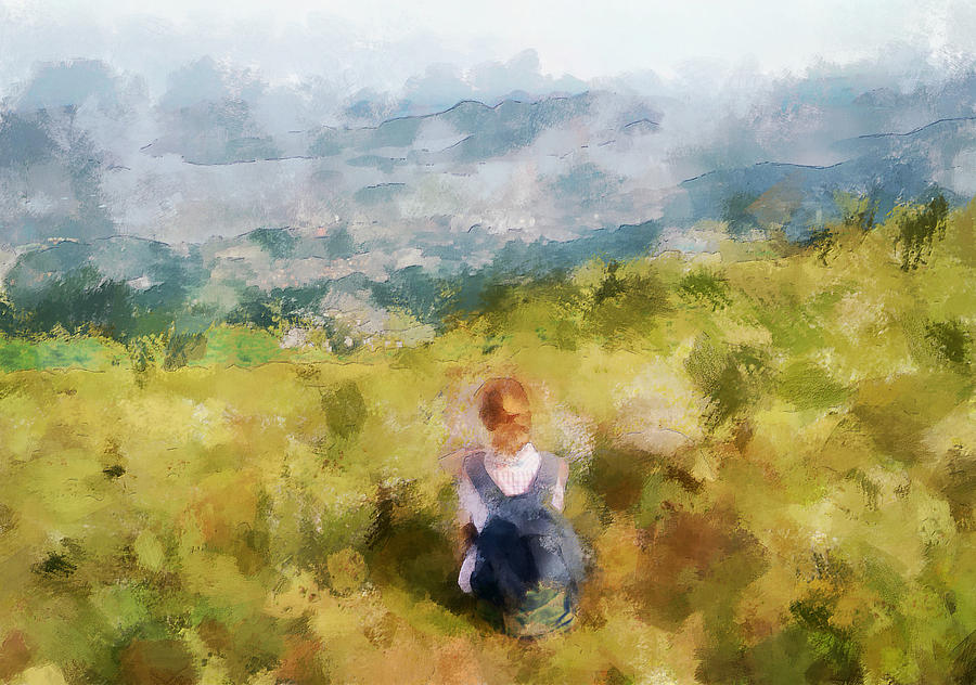 Looking At Hk From The Hills Digital Art