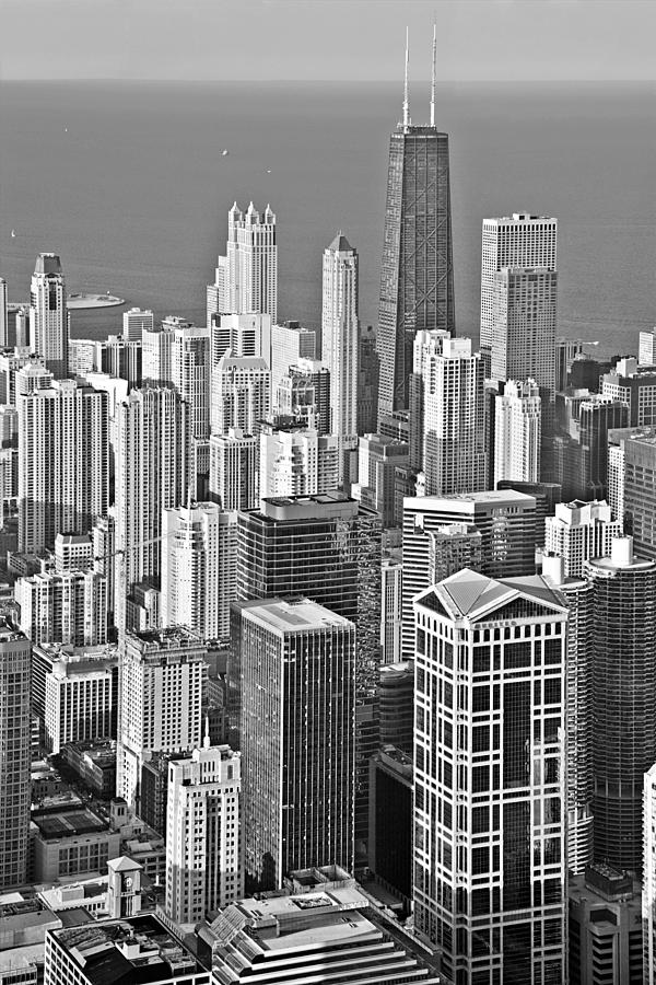 Aerial Photograph - Looking Down At Beautiful Chicago by Christine Till