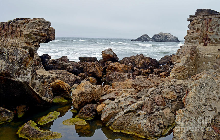 Looking Out On The Pacific Ocean From The Sutro Bath Ruins In San Francisco IIi Photograph  - Looking Out On The Pacific Ocean From The Sutro Bath Ruins In San Francisco IIi Fine Art Print