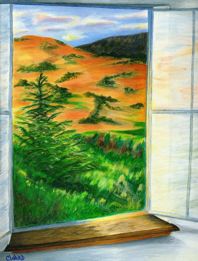 Surrealism Painting - Looking Out The Window by Colleen Ward