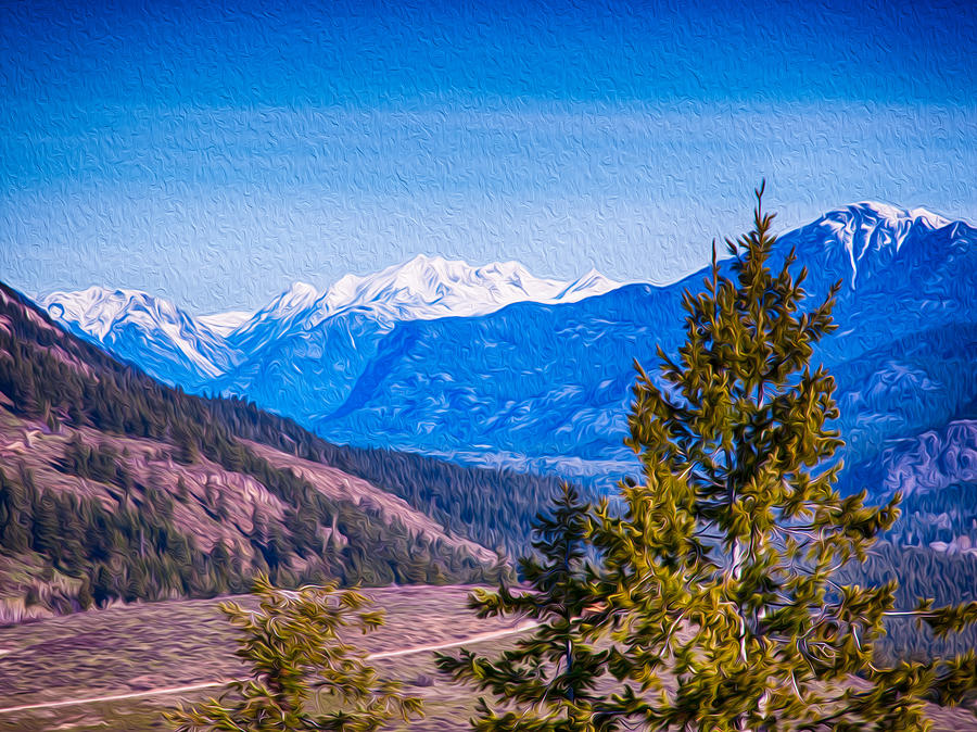 Looking To Mazama From Sun Mountain Painting
