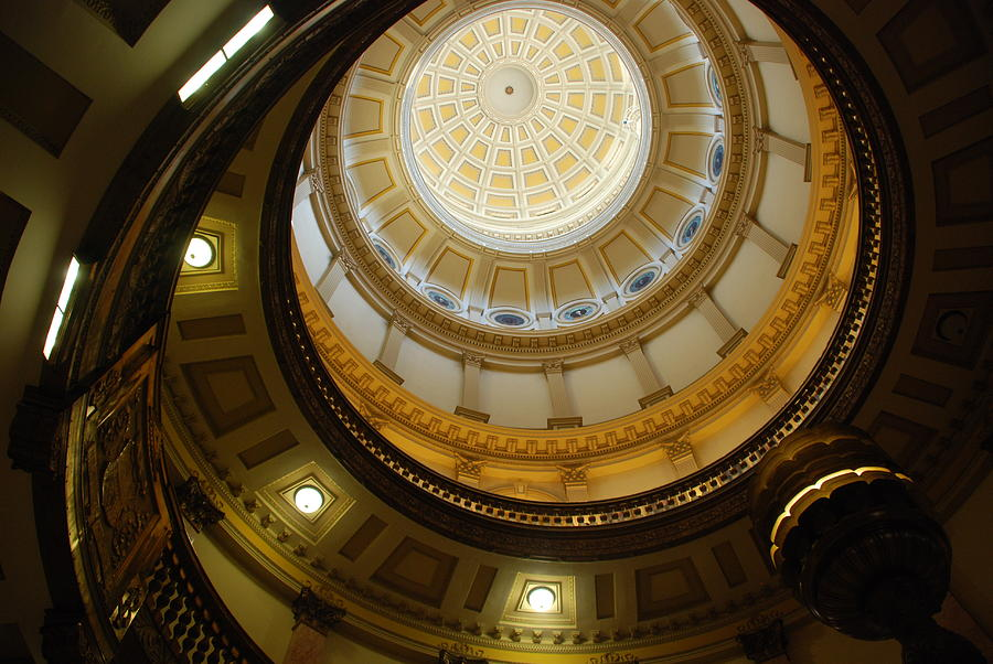 Looking Up The Capitol Dome - Denver Photograph
