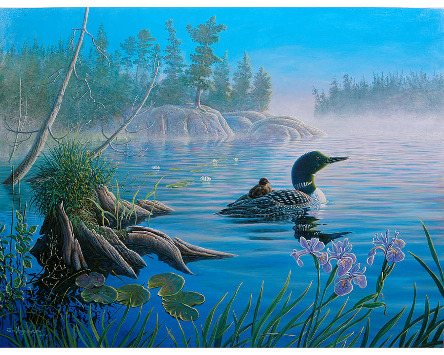 Loon painting - photo#6