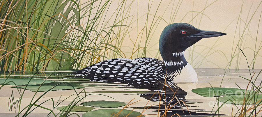 Loon painting - photo#4