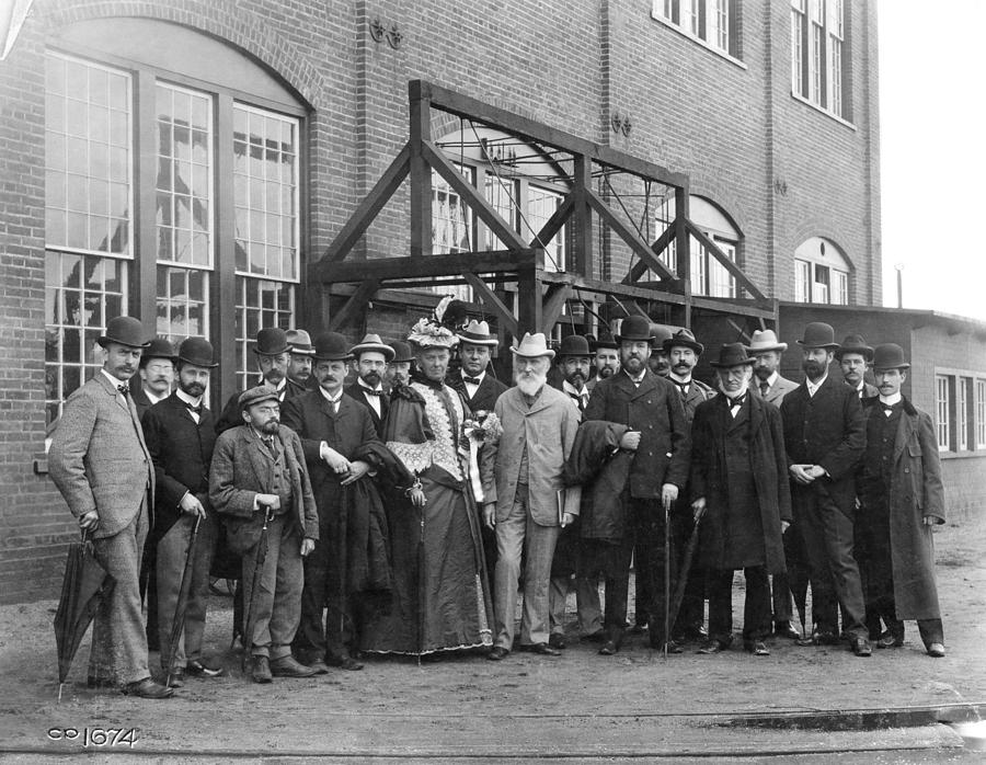 Lord Kelvin Visiting A Train Factory, Photograph