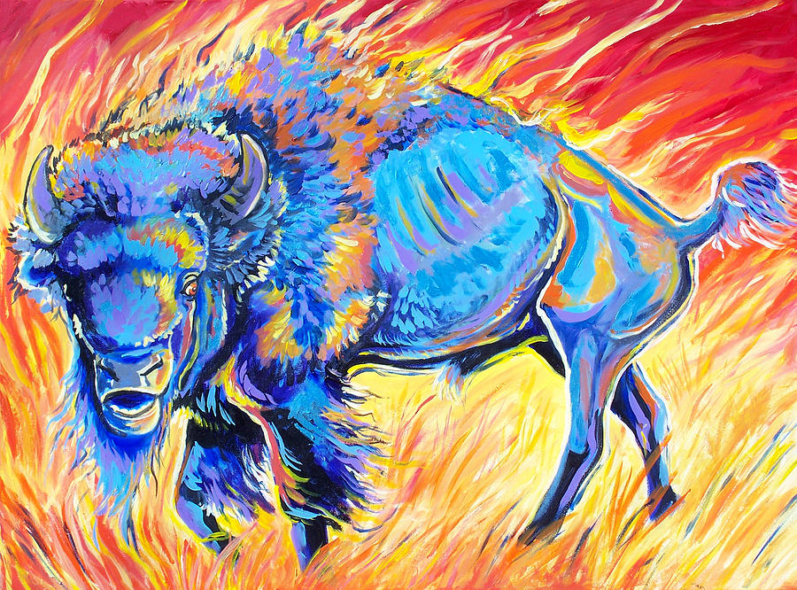 Buffalo Painting - Lord Of The Prairie by Jenn Cunningham
