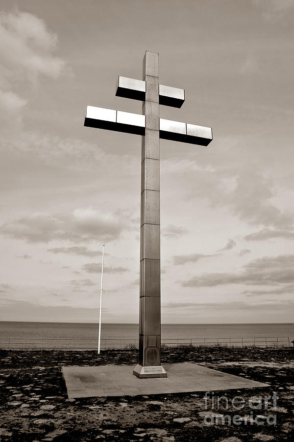 France Photograph - Lorraine Cross In Normandy by Olivier Le Queinec