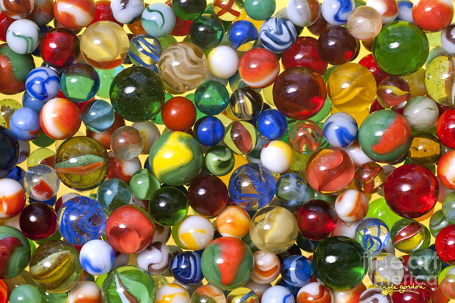 Lose Your Marbles Digital Art  - Lose Your Marbles Fine Art Print