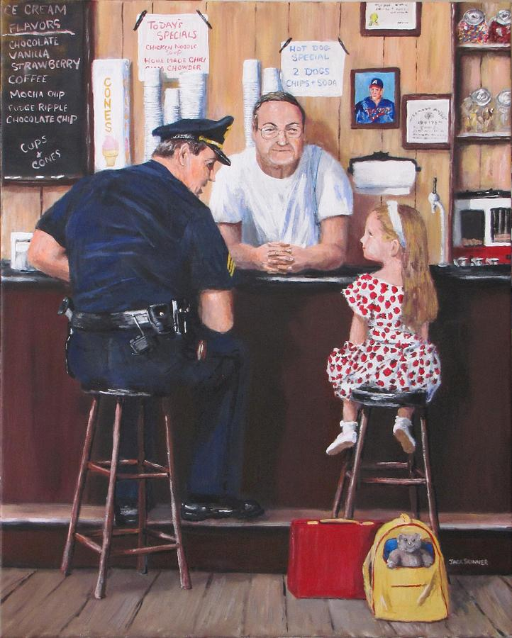 Police Painting - Lost And Found by Jack Skinner